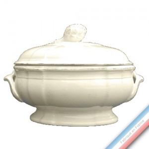 Collection MAINTENON PATINE VANILLE - Soupière ovale - L 28,5 cm - 3,3 L -  Lot de 1