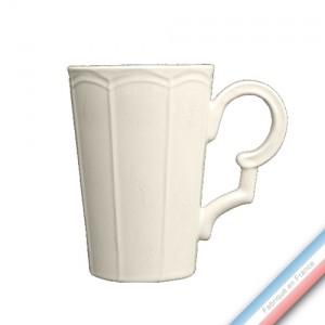 Collection MAINTENON PATINE VANILLE - Mug extra large - 0,60L -  Lot de 4