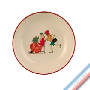 Collection JEUX D'HIVER - Assiette creuse - Diam  21 cm -  Lot de 4
