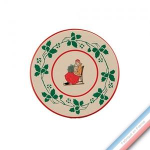 Collection JEUX D'HIVER - Assiette à pain - Diam  15.5 cm -  Lot de 4
