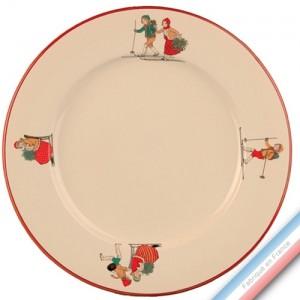 Collection JEUX D'HIVER - Plat plat - Diam  31.5 cm -  Lot de 1