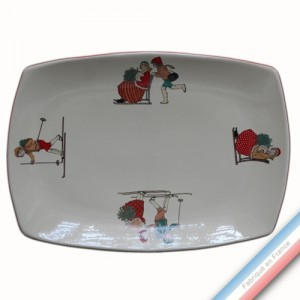 Collection JEUX D'HIVER - Plat rectangle - 37 x 27 cm -  Lot de 1