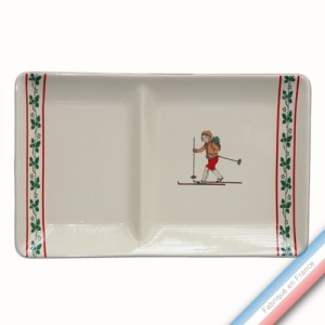 Collection JEUX D'HIVER - Assiette chaud/froid - 37 x 23 cm -  Lot de 1