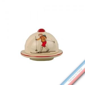 Collection JEUX D'HIVER - Confiturier 'Petit' - H 8 - Diam 9 cm -  Lot de 2