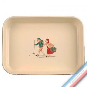 Collection JEUX D'HIVER - Plat rectangle à gratin - 35 x 25 cm -  Lot de 1