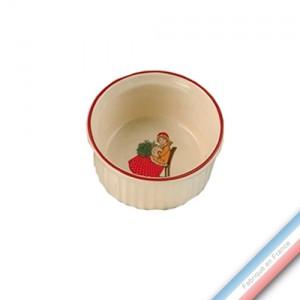 Collection JEUX D'HIVER - Ramequin - Diam  8,5 cm -  Lot de 4