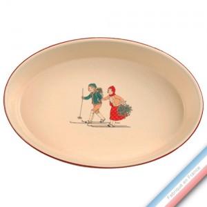 Collection JEUX D'HIVER - Plat ovale à gratin - 34,5 x 26 cm -  Lot de 1