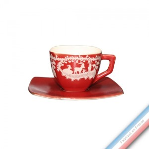 Collection MEGEVE - Tasse et soucoupe café - 0,13L / 14,5cm -  Lot de 4