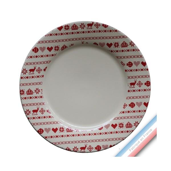 collection montagne rouge assiette plate diam 27 cm. Black Bedroom Furniture Sets. Home Design Ideas