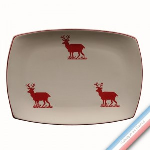 Collection MONTAGNE ROUGE - Plat rectangle - 37 x 27 cm -  Lot de 1