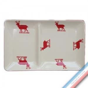 Collection MONTAGNE ROUGE - Assiette chaud/froid - 37 x 23 cm -  Lot de 1