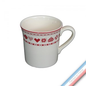 Collection MONTAGNE ROUGE - Mug - 0,35 L -  Lot de 4