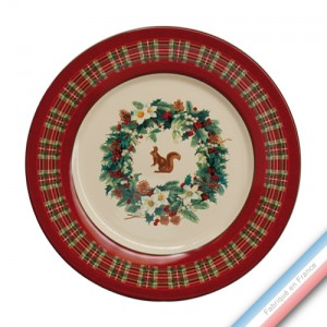 Collection ROSE DES NEIGES - Assiette plate - Diam  27 cm -  Lot de 4
