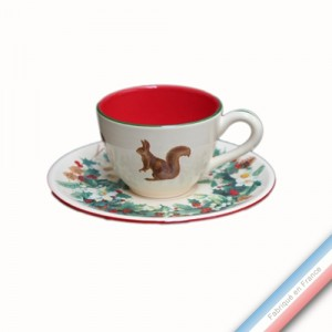 Collection ROSE DES NEIGES - Tasse et soucoupe café - 0,05L / 11,5cm -  Lot de 4