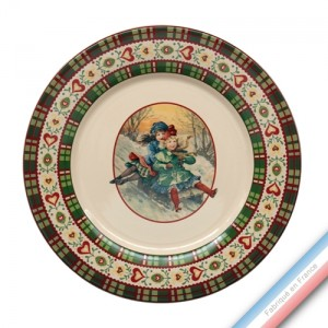 Collection SAINT PETERSBOURG - Assiette plate - Diam  27 cm -  Lot de 4