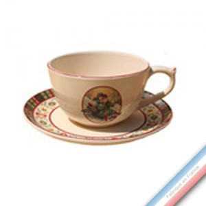 Collection SAINT PETERSBOURG - Tasse et soucoupe déjeuner  - 0,25L / 17,5cm -  Lot de 4