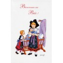 "Greeting card Alsace Ratkoff - ""Bienvenue au bébé"" - (welcome to the baby)"