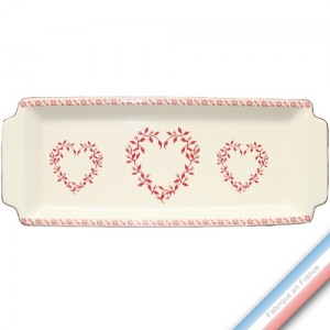 Collection TENDRE ROUGE - Plat cake - 38 x 15 cm -  Lot de 1