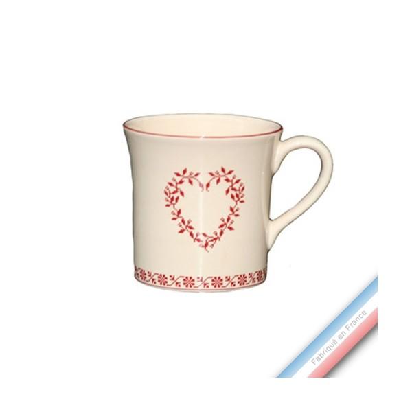 collection tendre rouge mug 0 35 l lot de 4 alsace. Black Bedroom Furniture Sets. Home Design Ideas