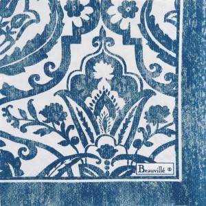 """Paquet de 20 serviettes en papier """"Saint-Tropez"""" bleu"""
