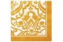 """Paquet de 20 serviettes en papier """"Saint-Tropez"""" jaune"""