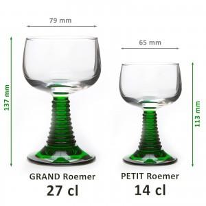 6 Verres à vin d'Alsace Roemer GRAND modèle 27cl