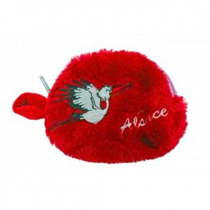 Porte Monnaie Cigogne - coloris rouge