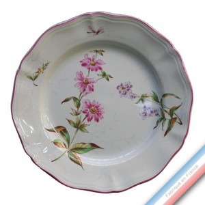 Collection LIBELLULE  - Assiette plate - Diam  25 cm -  Lot de 4