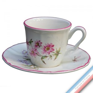 Collection LIBELLULE  - Tasse et soucoupe café - 0,11L/15cm  -  Lot de 4