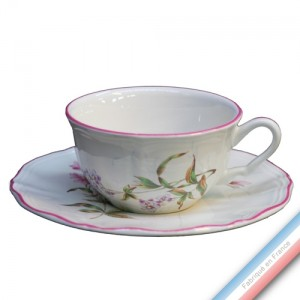 Collection LIBELLULE - Tasse et soucoupe thé basse - 0,21L/16cm -  Lot de 4