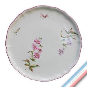Collection LIBELLULE - Plat tarte - Diam  34 cm -  Lot de 1
