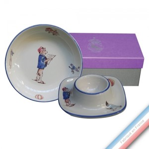 Collection Coffrets Enfants - Coupelle / Coquetier Garçon - 18 x 9 x 7 cm - Lot de 1