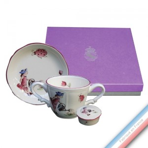 Collection Coffrets Enfants - Tasse / ass. mini / bte dent de lait Fille - 17 x 17 x 5 cm - Lot de 1