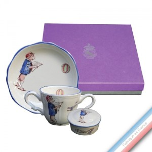 Collection Coffrets Enfants - Tasse / ass. mini / bte dent de lait Garçon - 17 x 17 x 5 cm - Lot de 1