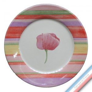 Collection COQUELICOTS & CAPUCINES - Assiette dessert - Diam  21,5 cm -  Lot de 4