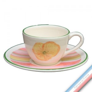 Collection COQUELICOTS & CAPUCINES - Tasse et soucoupe café - 0,05L / 11,5cm -  Lot de 4