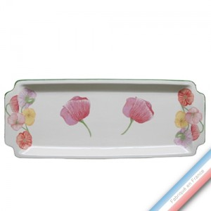 Collection COQUELICOTS & CAPUCINES - Plat cake - 38 x 15 cm -  Lot de 1