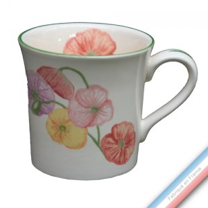 Collection COQUELICOTS & CAPUCINES - Mug - 0,35 L - H 9,5 cm -  Lot de 4