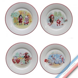 Collection ENFANTS - Assiette enfant- Diam  21,5 cm -  Lot de 4