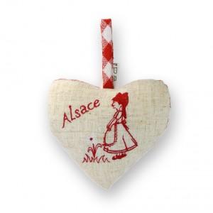 Coeur à suspendre Alsacienne & Fleur