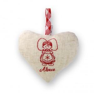 Coeur à suspendre Alsacienne Enfant