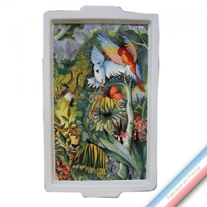 Collection JUNGLE - Plateau rectangulaire egm - 50 x 29 cm -  Lot de 1