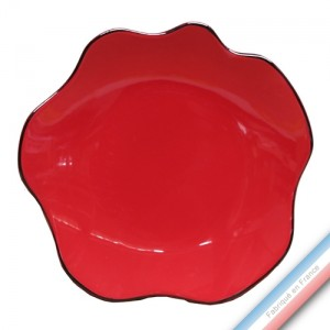 Collection ZAZA ROUGE - Assiette plate - Diam 26 cm -  Lot de 4