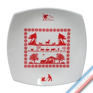 Collection MERIBEL - Assiette plate - 27 x 27 cm -  Lot de 4