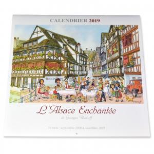 Calendrier L'Alsace Enchantée 2019 de Ratkoff (30cm x 30cm)