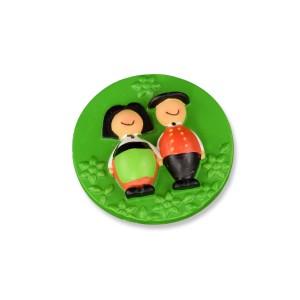 Magnet Jeannala et Seppala rond vert