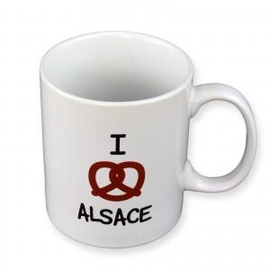 Mug J'aime l'Alsace - Bretzel