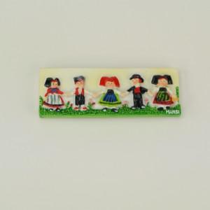 Magnet Alsace Hansi - Frise 5 Enfants