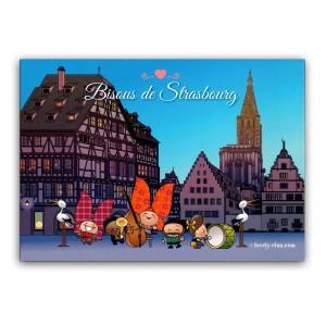 Carte postale Lovely Elsa - Bisous de Strasbourg