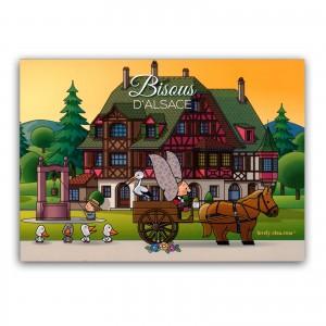 Carte postale Lovely Elsa - Bisous d'Alsace